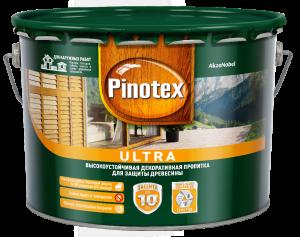 Pinotex Ultra / Пинотекс Ультра антисептик для древесины тиксотропный с УФ фильтром защита до 10 лет