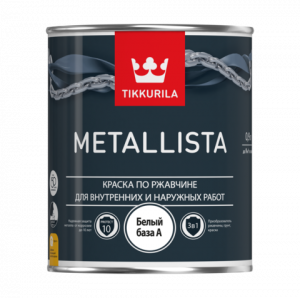 Tikkurila Metallista / Тиккурила Металлиста краска по ржавчине