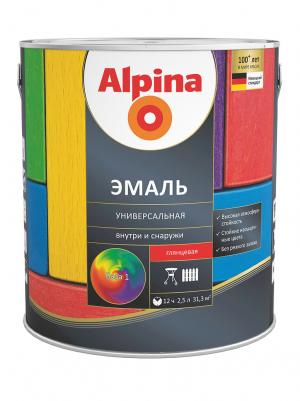 Alpina / Альпина эмаль универсальная алкидная шелковисто-матовая
