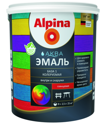 Alpina Aqua / Альпина Аква эмаль на водной основе универсальная
