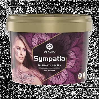 Sympatia/ Симпатия глубокоматовая краска для потолков с замедленным временем высыхания
