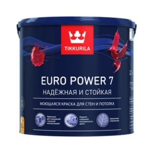 Tikkurila Euro Power 7 / Тиккурила Евро 7 краска матовая моющаяся